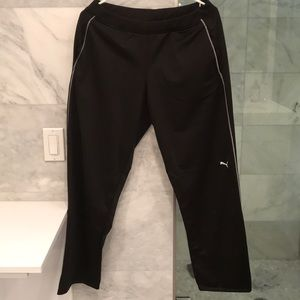 Puma Black Straight Leg Sport Pant W/Pockets Sz XL